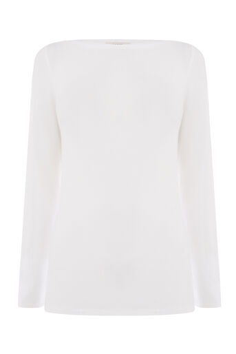Oasis, ENVELOPE NECK TOP White 0