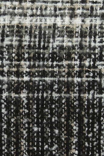 Oasis, OMBRE BOUCLE SCARF Black and White 2