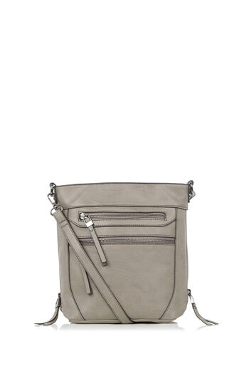 Oasis, ALICE ZIP BAG Mid Grey 0