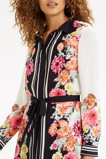 Oasis, Film Floral Shirt Dress Multi 4