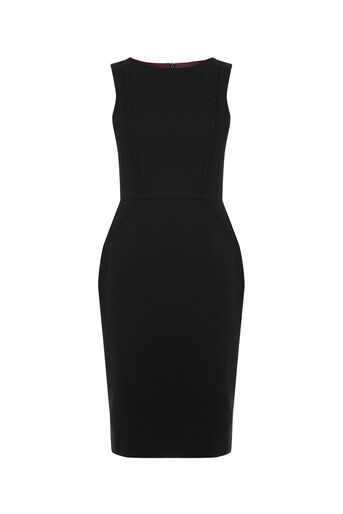 Oasis, CLARA WORKWEAR DRESS Black 0