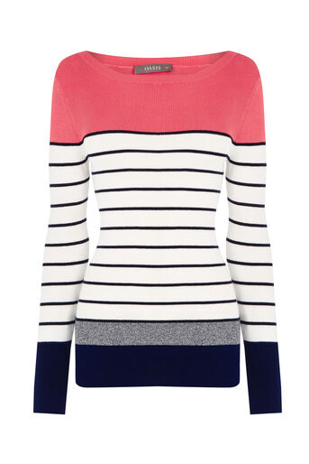 Oasis, The Essential Striped Knit Multi 0
