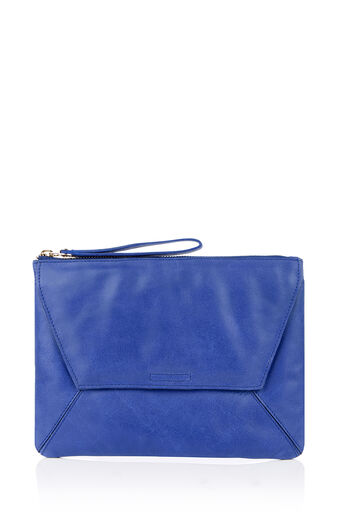 Oasis, LEATHER CLUTCH Rich Blue 0