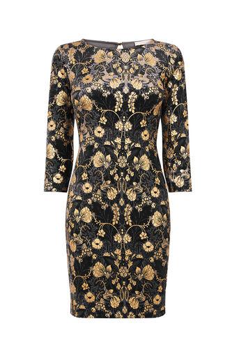 Oasis, WARNER VELVET DRESS Black 0