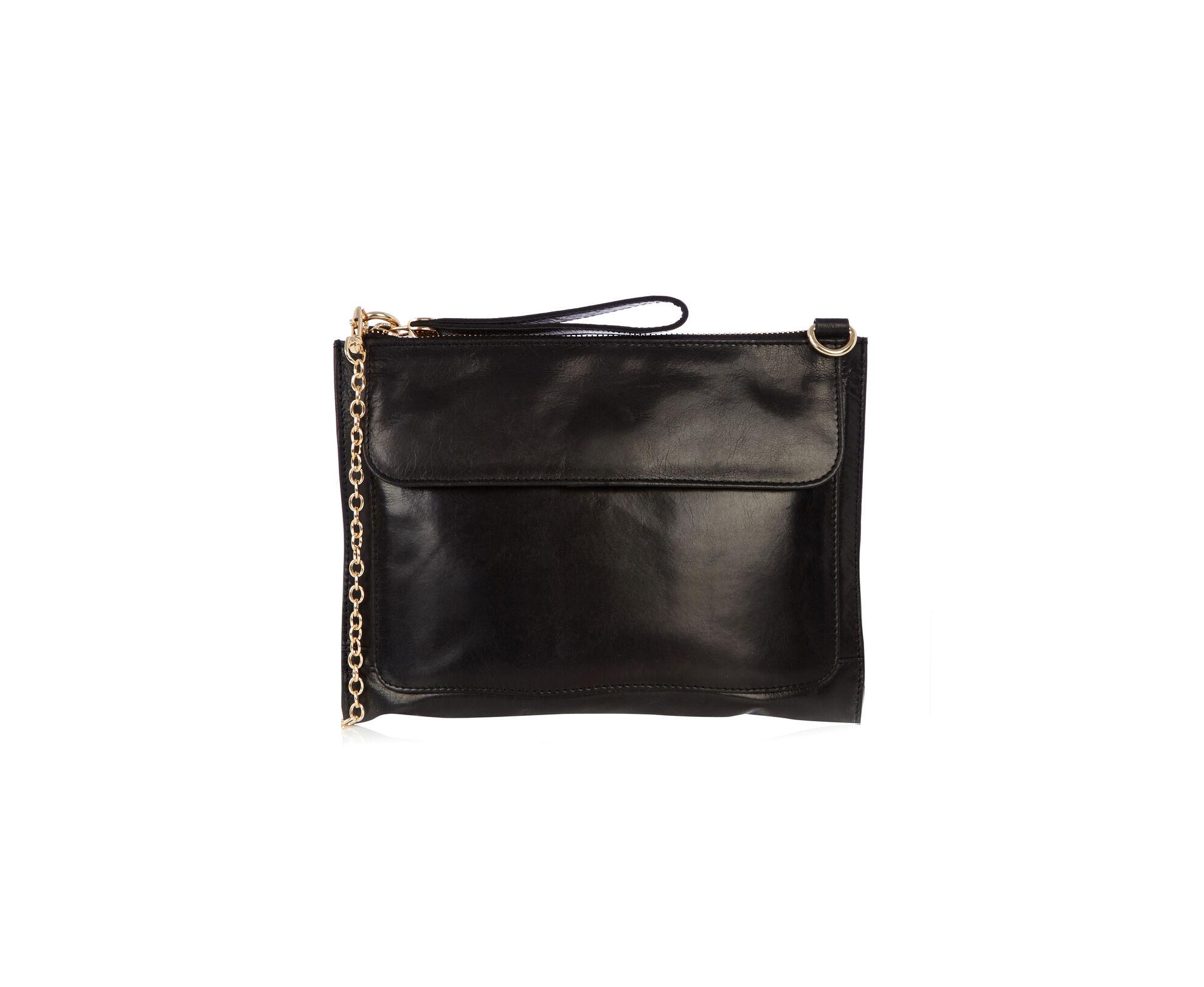 Oasis, Leather Betti Clutch Black 0
