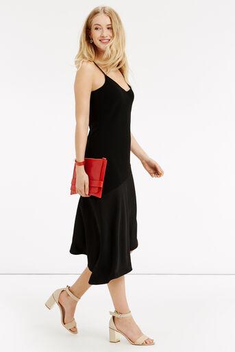 Oasis, Asymmetrical Midi Dress Black 2