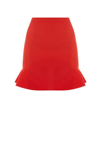 Oasis, RED FLIPPY SKIRT Mid Red 0