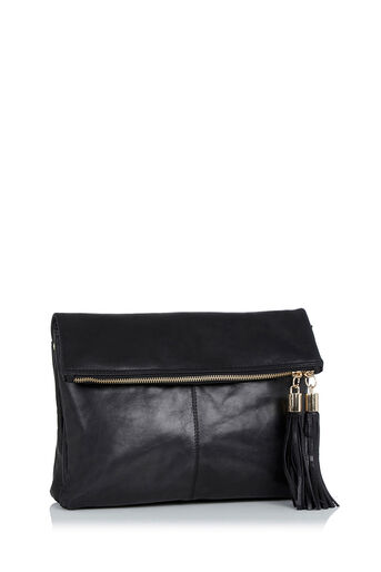 Oasis, LEATHER FREDA SATCHEL Black 2