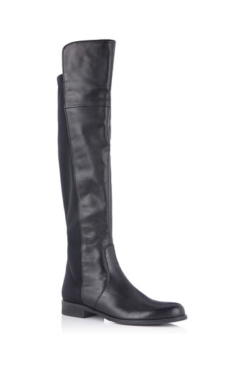 Oasis, OVER THE KNEE FLAT BOOTS Black 0