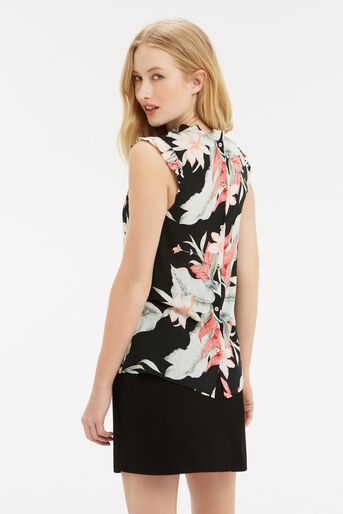 Oasis, Tropical Fancy High Neck Shell Multi Black 3