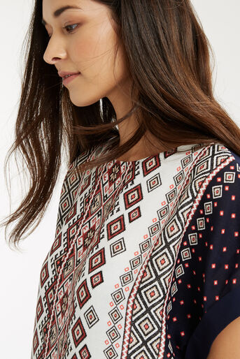 Oasis, Embroidered Mixed T-Shirt Multi 4