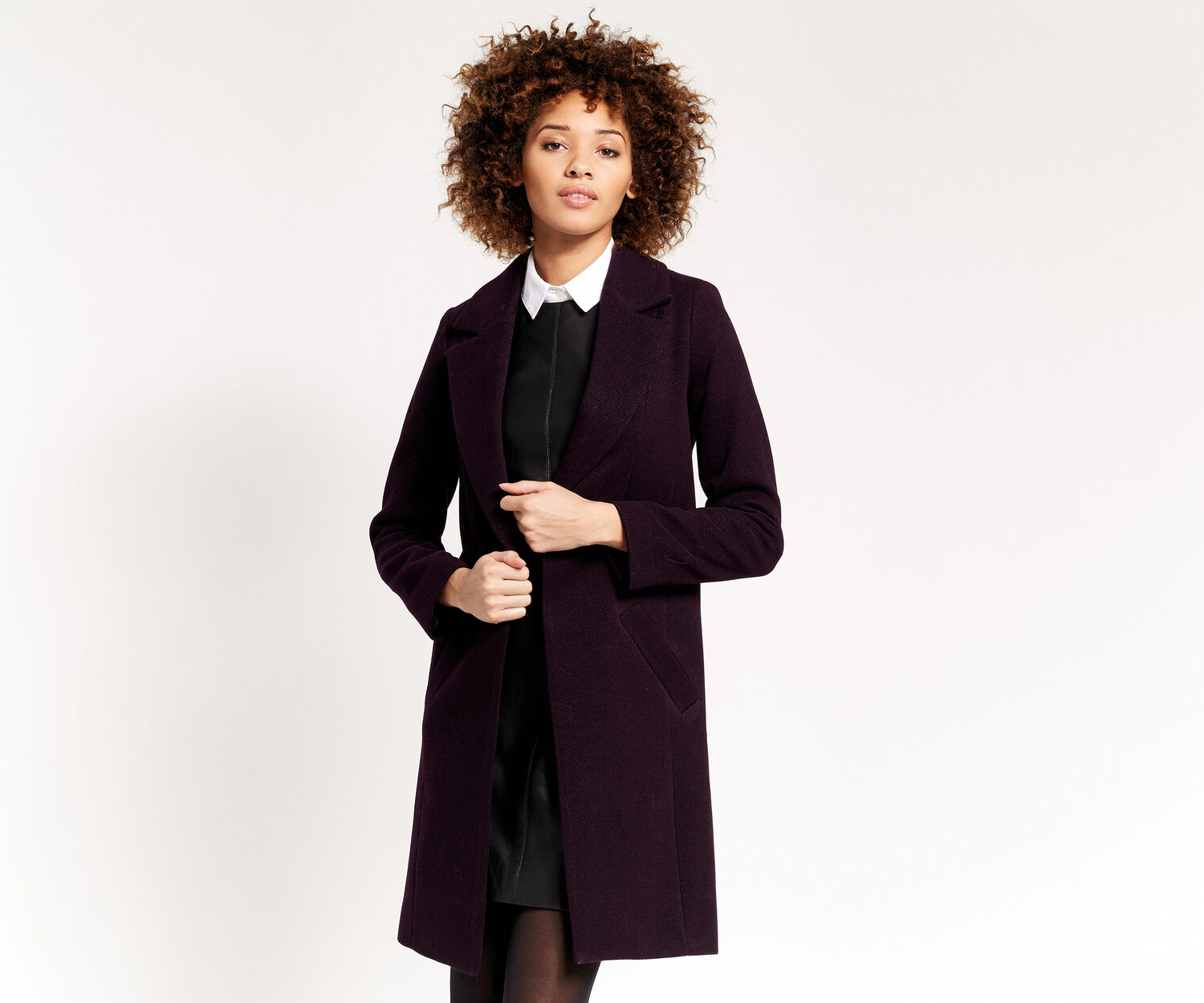 Oasis, KIMBERLY CAR COAT Burgundy 1