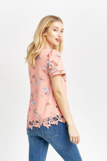 Oasis, BUTTERFLY PRINT T-SHIRT Multi 3