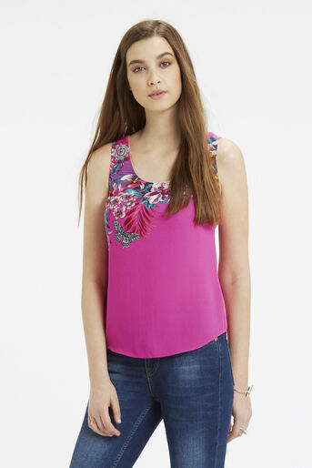 Oasis, TROPICAL PLACEMENT VEST Multi Pink 1