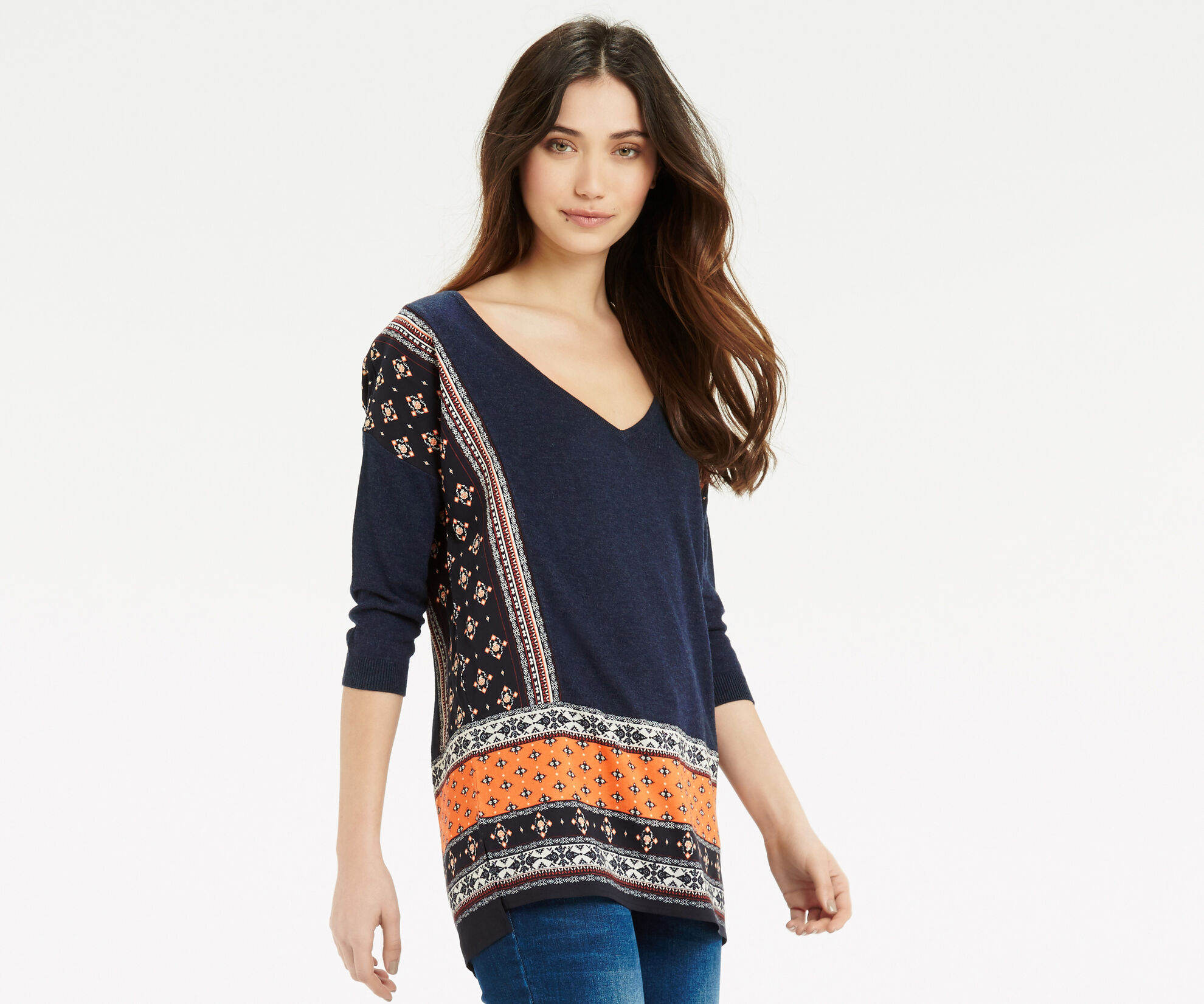Oasis, Naomi Patched Jumper Multi Blue 1