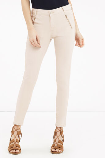 Oasis, Jade Skinny Biker Jeans Cream 1