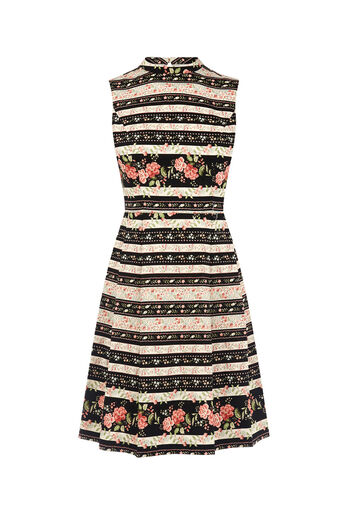 Oasis, STRIPE FLORAL DRESS Multi 0