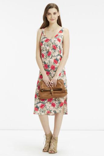 Oasis, Tropical Midi Dress Multi Natural 2