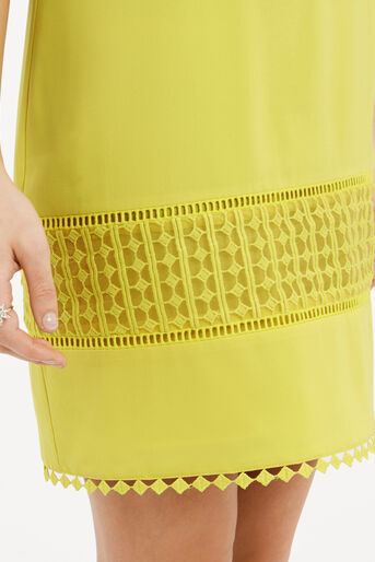 Oasis, Lace Detail Dress Bright Yellow 4
