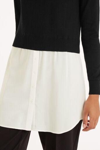 Oasis, Mono Shirt Tails Tunic Black and White 4