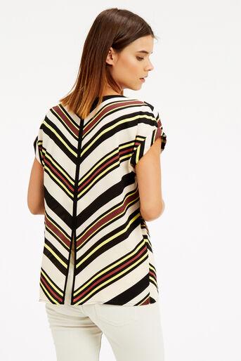 Oasis, Chevron Stripe T-Shirt Multi 3