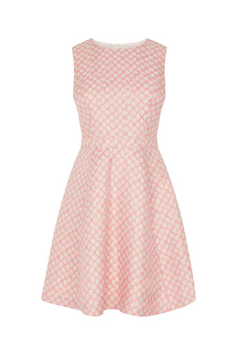 Oasis, Daisy Jacquard Skater Dress Multi Pink 0