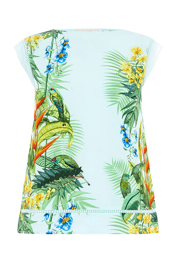 Oasis, TROPICAL PLACEMENT TEE Multi Blue 0