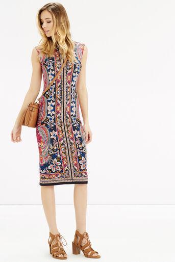 Oasis, Paisley Tube Dress Multi 2