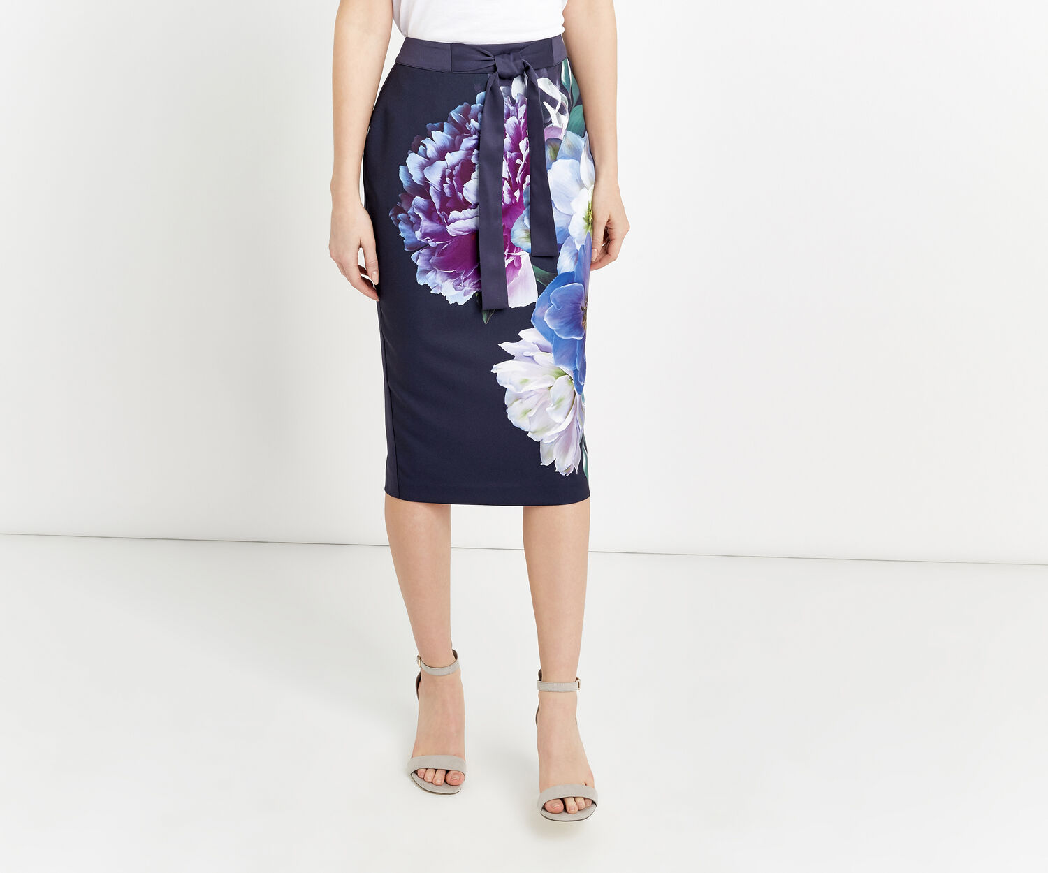 Oasis, WILD FLORAL PENCIL SKIRT Multi 1