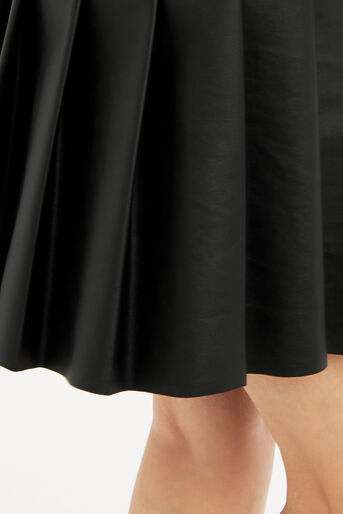 Oasis, FAUX LEATHER SKIRT Black 4