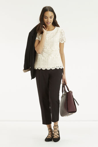 Oasis, Deco Lace Top Off White 2