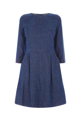 Oasis, CARRIE SHIFT DRESS Denim 0