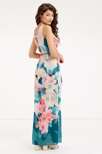 Oasis, FLORAL MAXI DRESS Teal Green 3