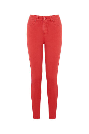 Oasis, STILETTO SKINNY JEANS Rich Red 0