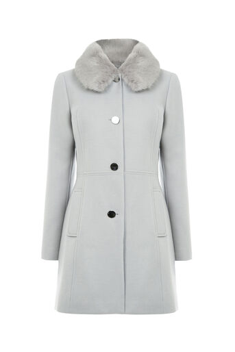 Oasis, OLIVIA PRINCESS COAT Pale Grey 0