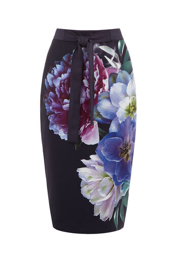 Oasis, WILD FLORAL PENCIL SKIRT Multi 0