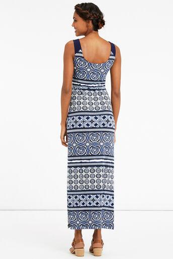 Oasis, TIE DYE MAXI DRESS Multi Blue 3
