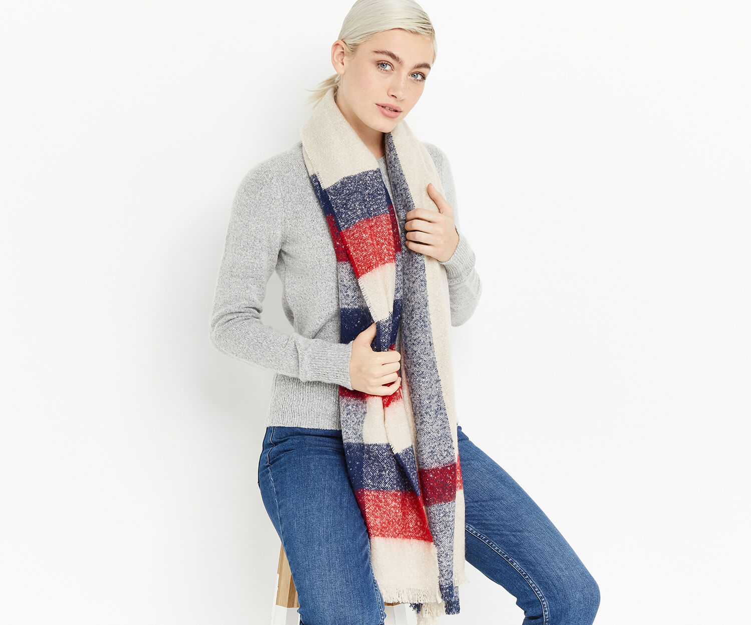 Oasis, CHECK SCARF Multi 1