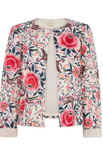 Oasis, Embroidered Cuba Floral Jacket Multi 0