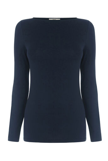 Oasis, ENVELOPE NECK CREW Navy 0