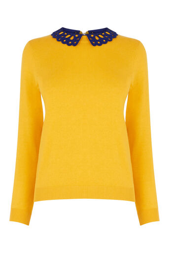Oasis, The Sweet Collared Sweater Ochre 0
