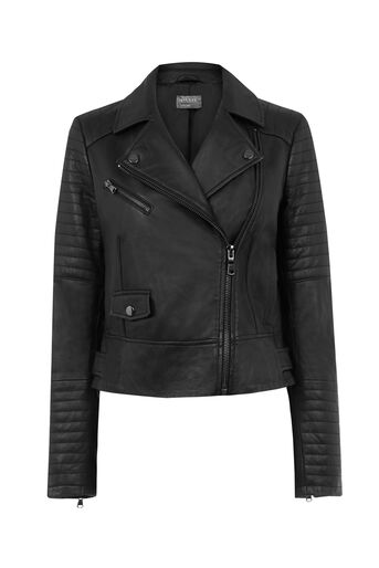 Oasis, AVA LEATHER BIKER JACKET Black 0