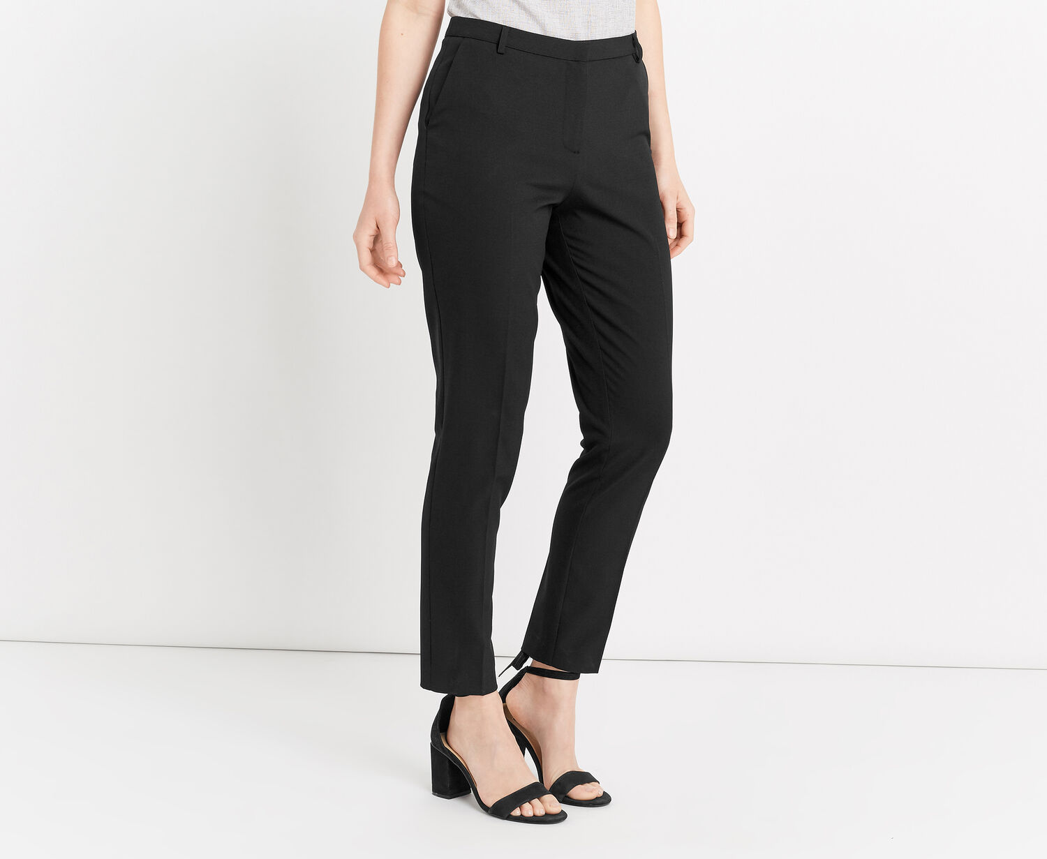 Oasis, CREPE BASIC TROUSER Black 1
