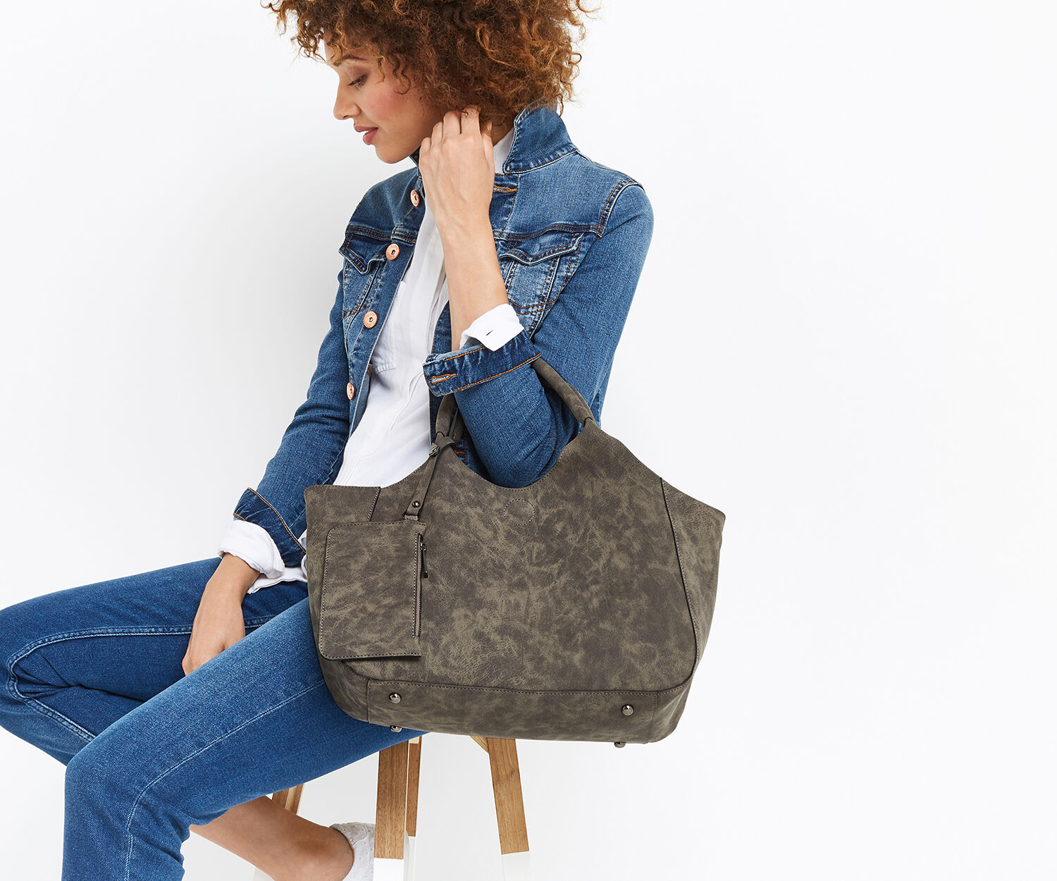 Oasis, MAISY TOTE Mid Grey 1