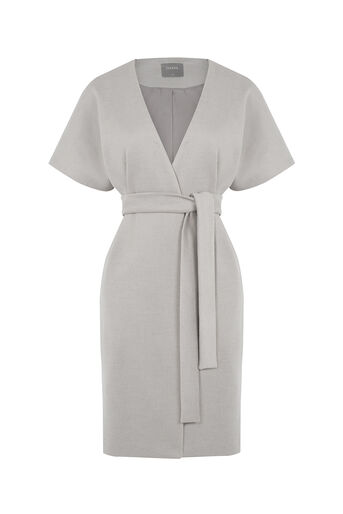 Oasis, Lexi Sleeveless Coat Mid Neutral 0