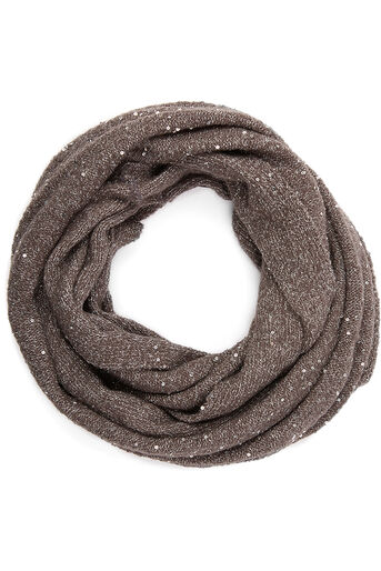 Oasis, SEQUIN KNIT SNOOD Mid Grey 0