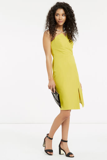 Oasis, STRUCTURED BANDEAU DRESS Lime Green 2