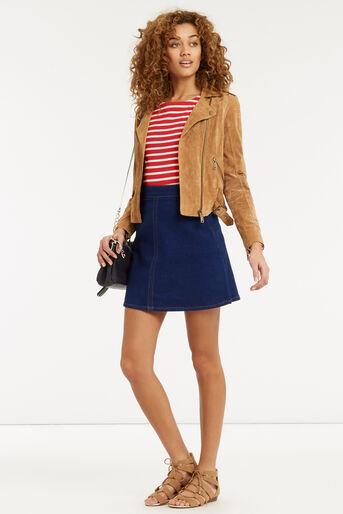 Oasis, Stripe Long Sleeved Top Multi Red 2