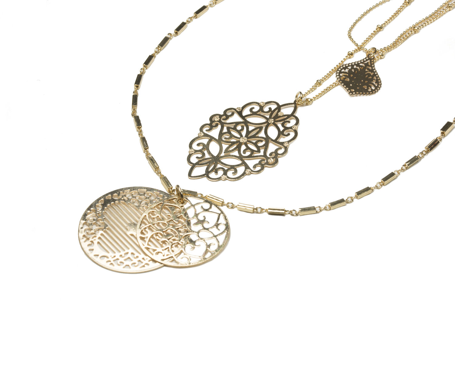 Oasis, FILIGREE LAYERED NECKLACE Gold 1