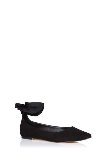 Oasis, ANKLE TIE FLATS Black 0